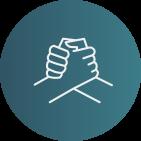 Symbol Hände Zusammenhalt Team